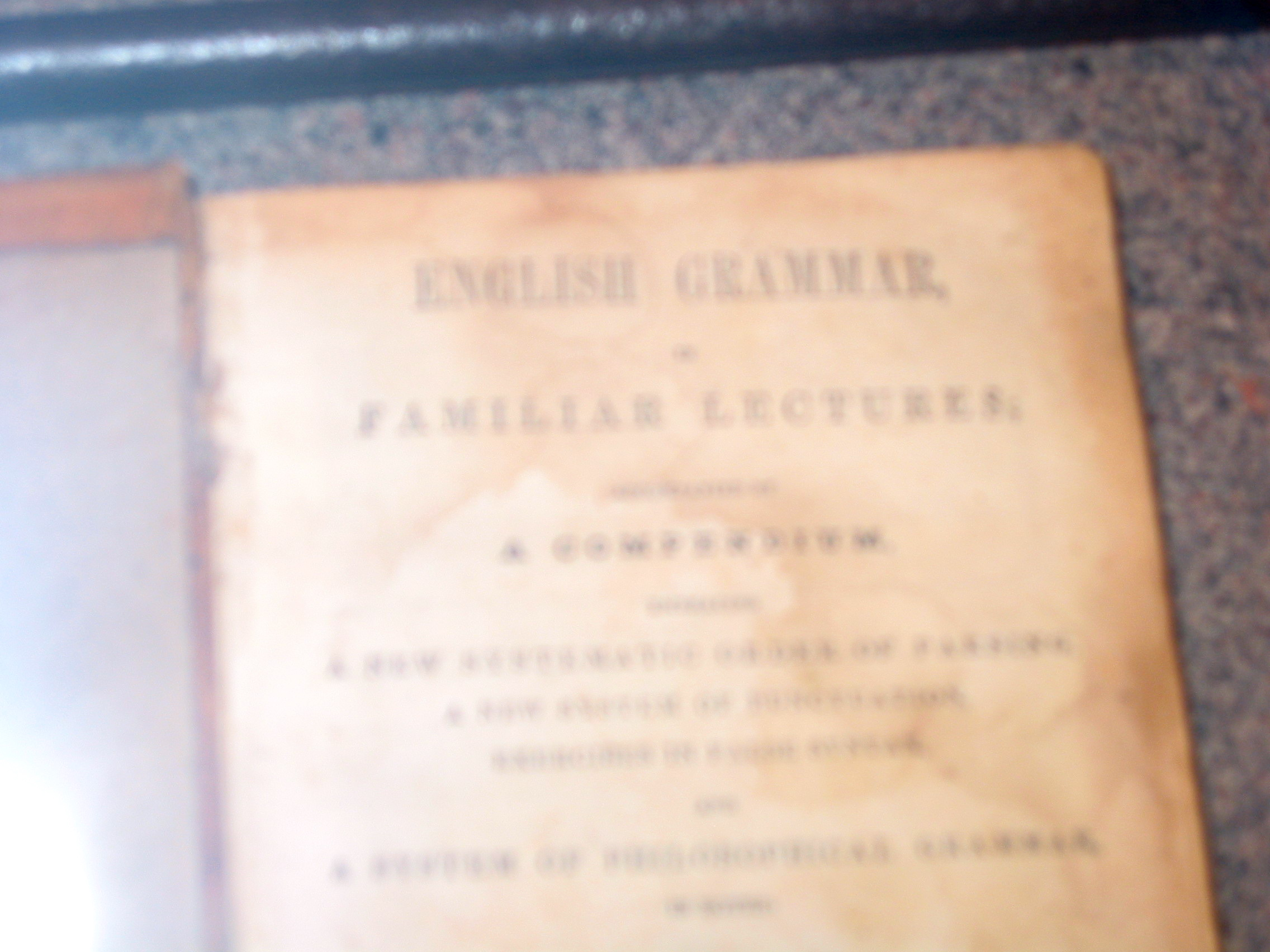 Abe Lincoln's grammar book